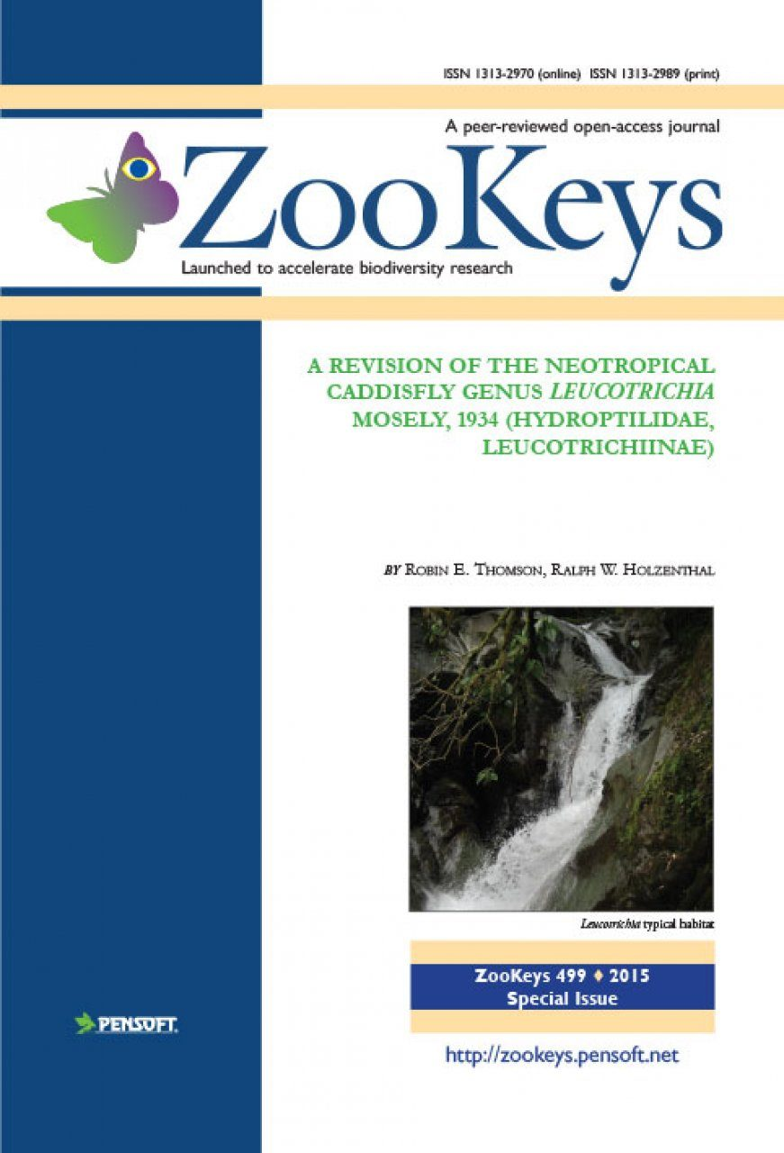 ZooKeys 499: A Revision of the Neotropical Caddisfly Genus Leucotrichia Mosely, 1934 (Hydroptilidae, Leucotrichiinae)