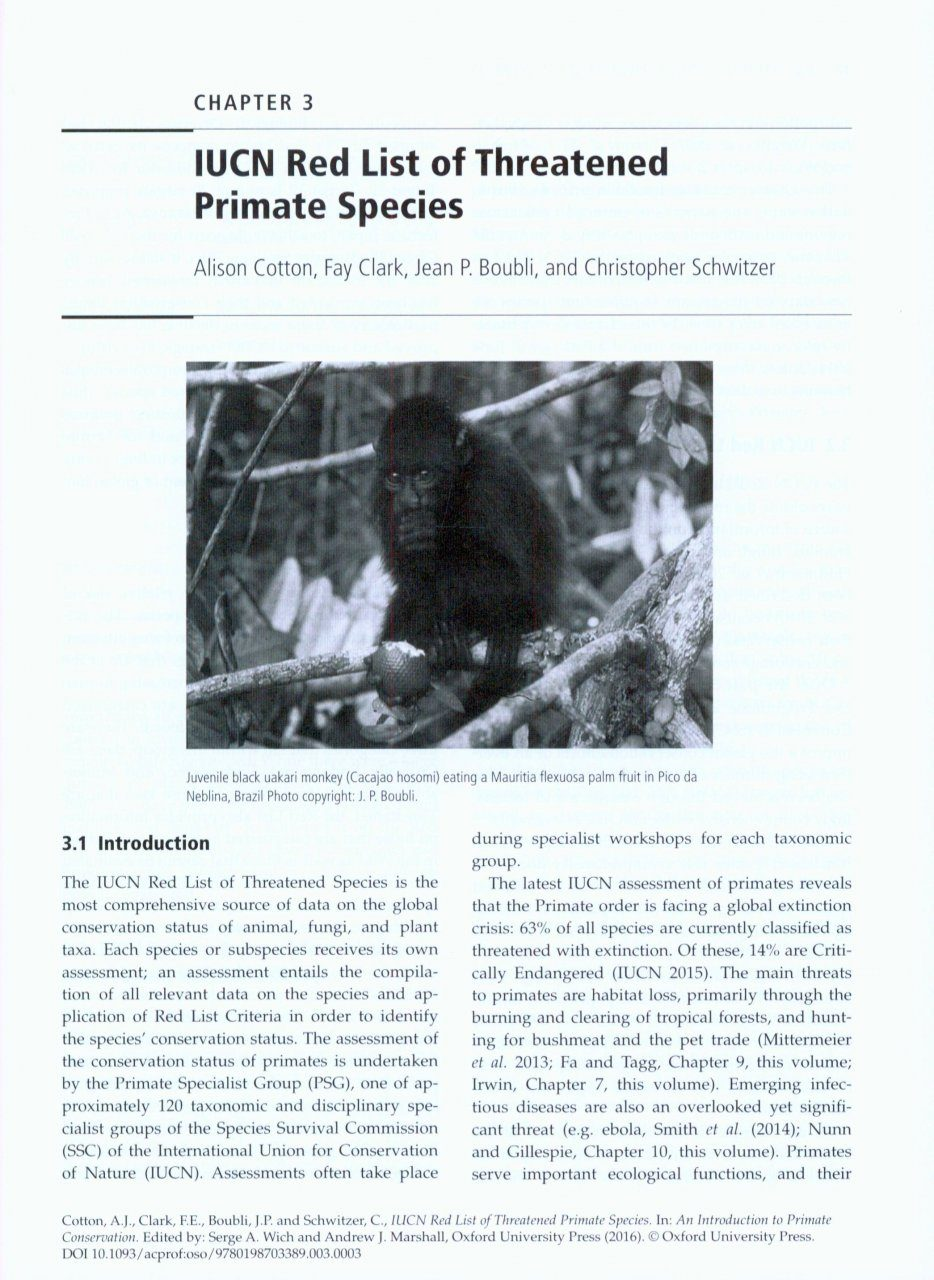 an introduction to the nature of primates