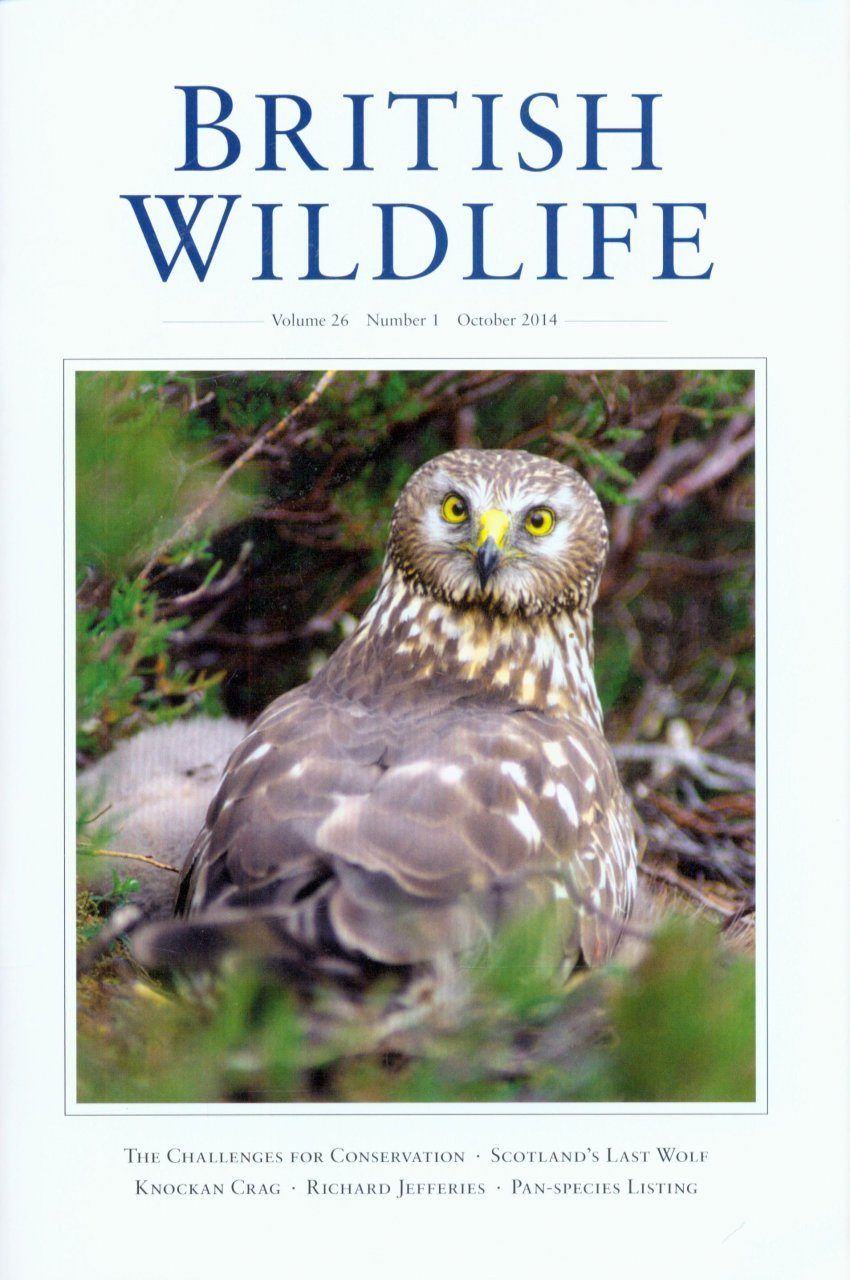 British Wildlife 26.1 October 2014