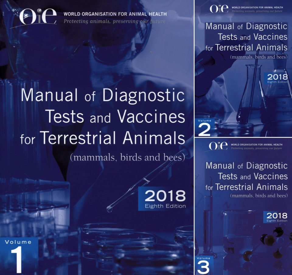 Manual of Diagnostic Tests and Vaccines for Terrestrial Animals (3-Volume Set)