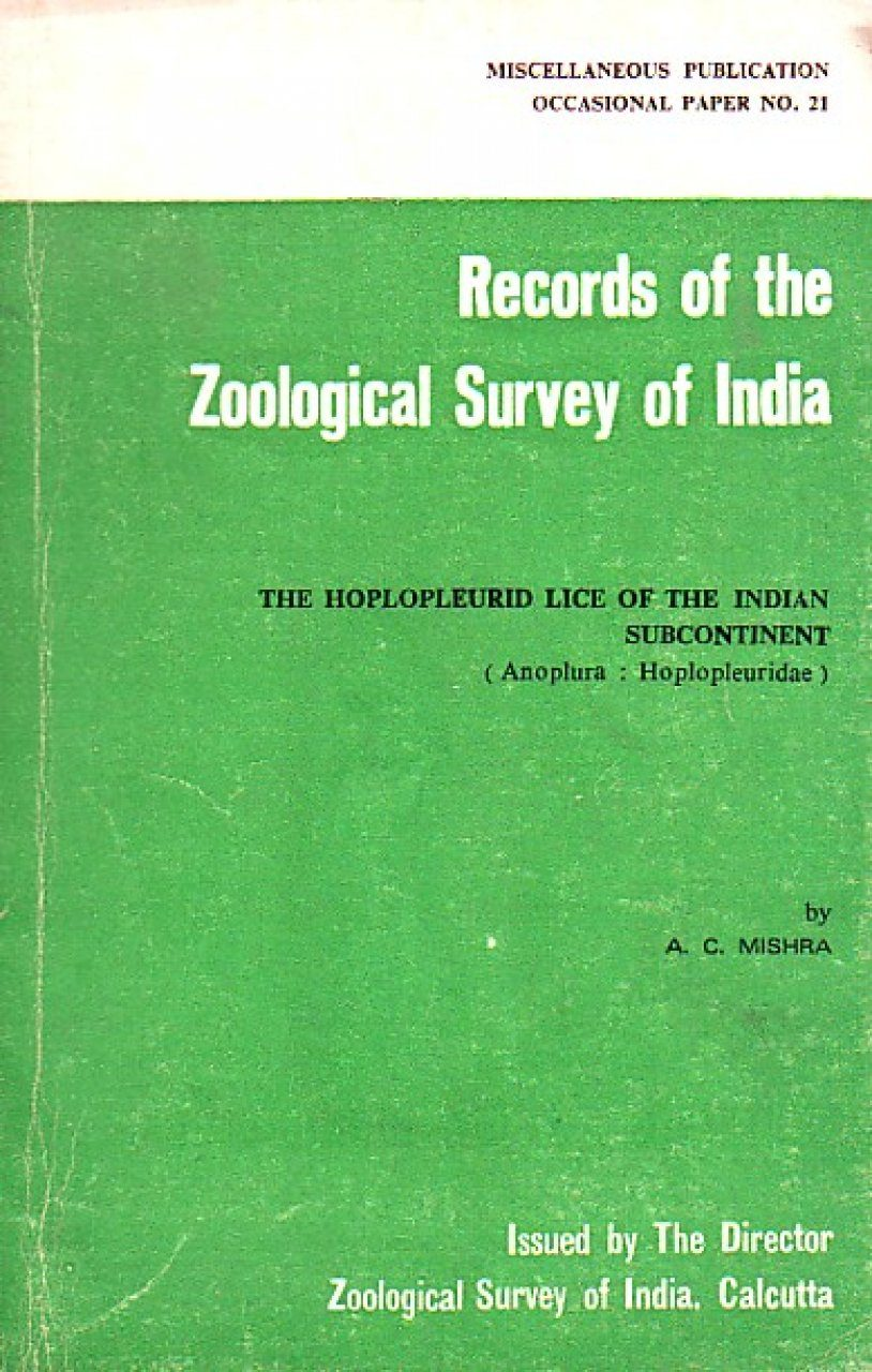 The Hoplopleurid Lice of the Indian Subcontinent (Anoplura: Hoplopleuridae)