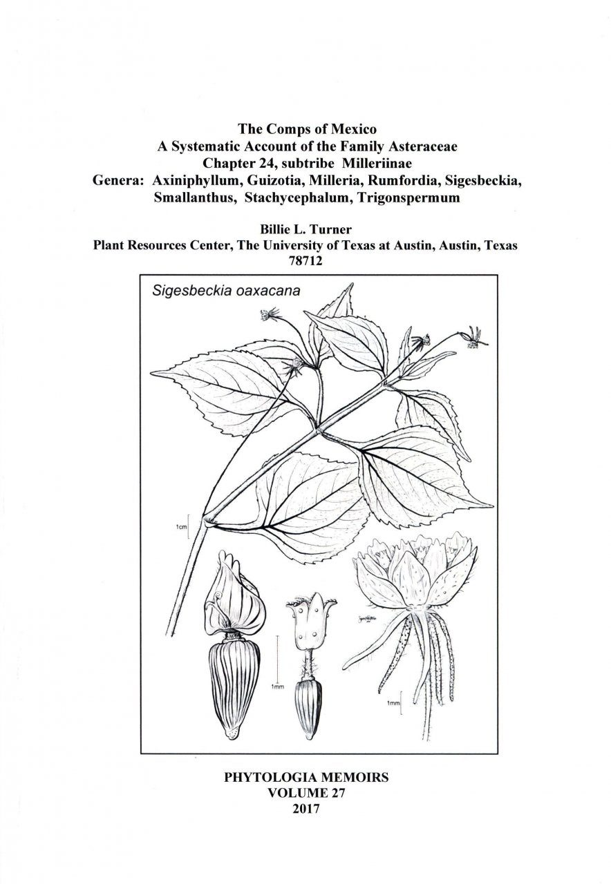 The Comps of Mexico: A Systematic Account of the Family Asteraceae, Chapter 24