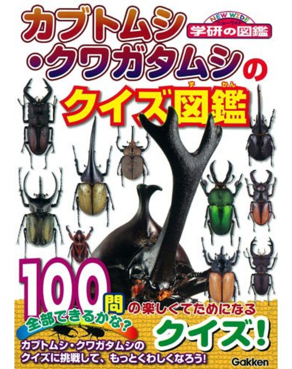 Kabutomushi Kuwagatamushi no Kuizu Zukan [A Quiz Book of Stag Beetles]