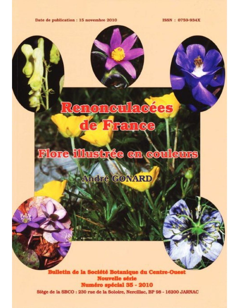 Les Renonculacées de France [The Ranunculaceae of France]