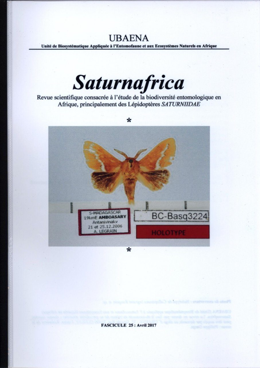 Saturnafrica, Volume 25 [French]
