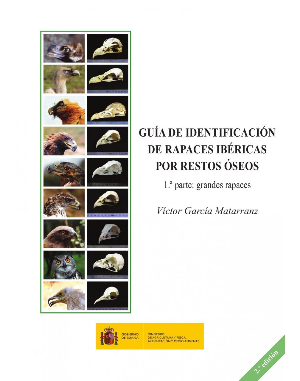 Guía de Identificación de Rapaces Ibéricas por Restos Óseos, 1ª Parte: Grandes Rapaces [Identification Guide to Iberian Raptors Using Skeletal Remains, Part 1: Large Raptors]