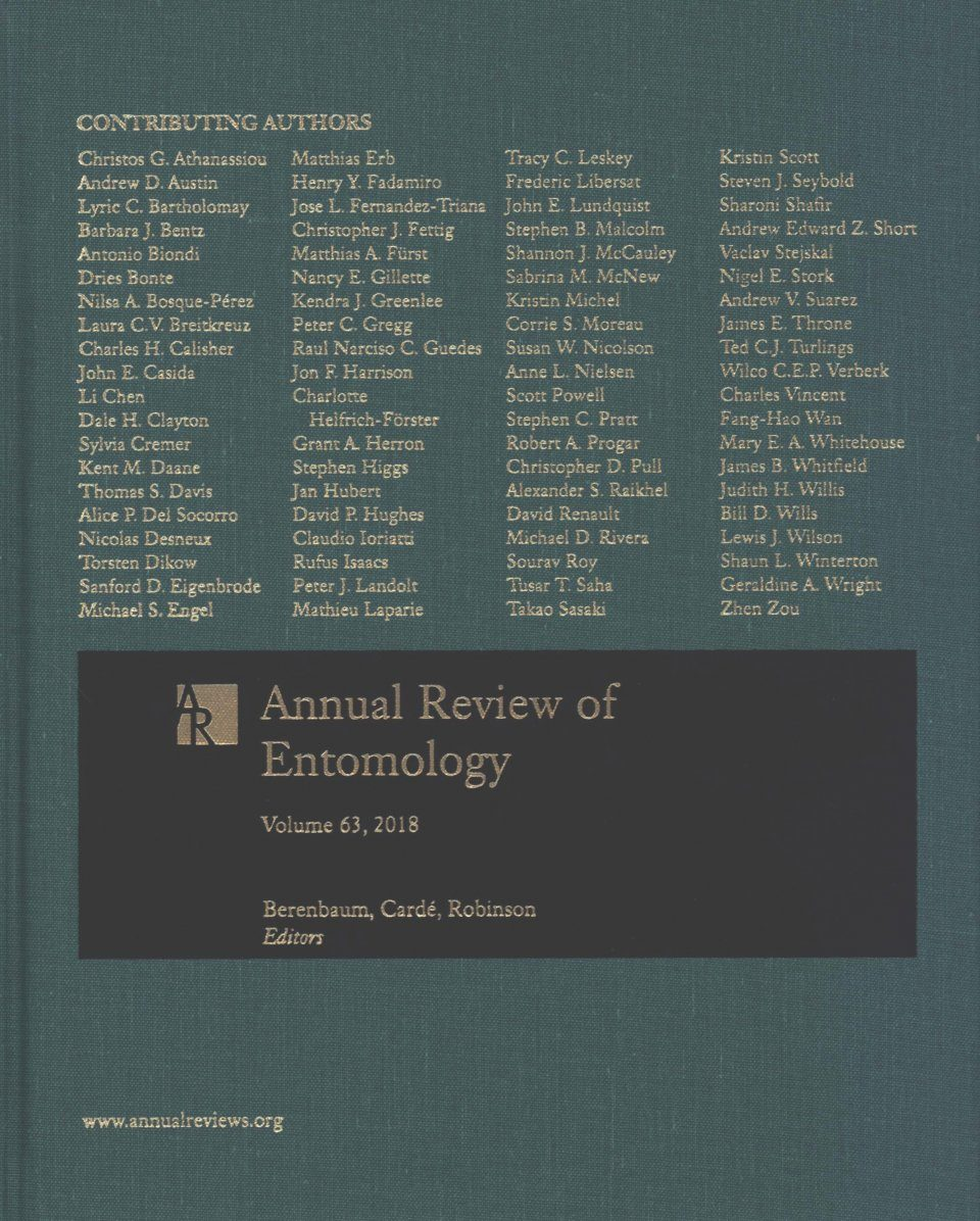 Annual Review of Entomology, Volume 63