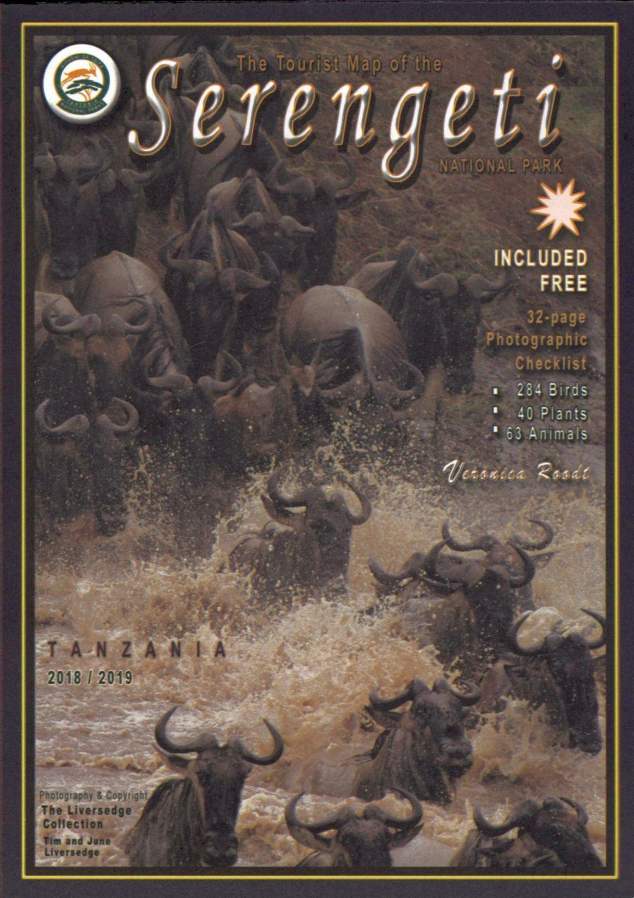 Tourist Map of the Serengeti National Park with Photographic Checklist 2018/2019