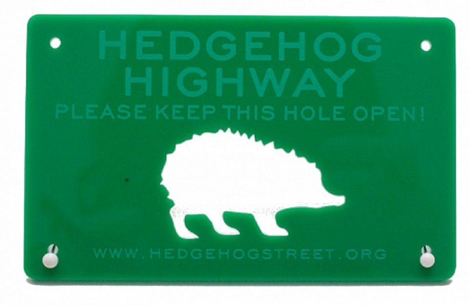 Hedgehog Highway Sign