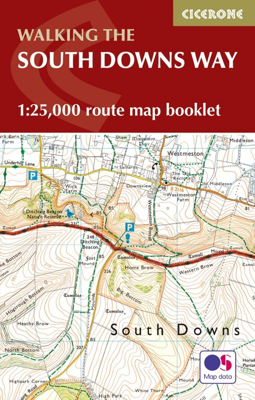 Cicerone Guides: Walking the South Downs Way: 1:25,000 OS Route Map Booklet