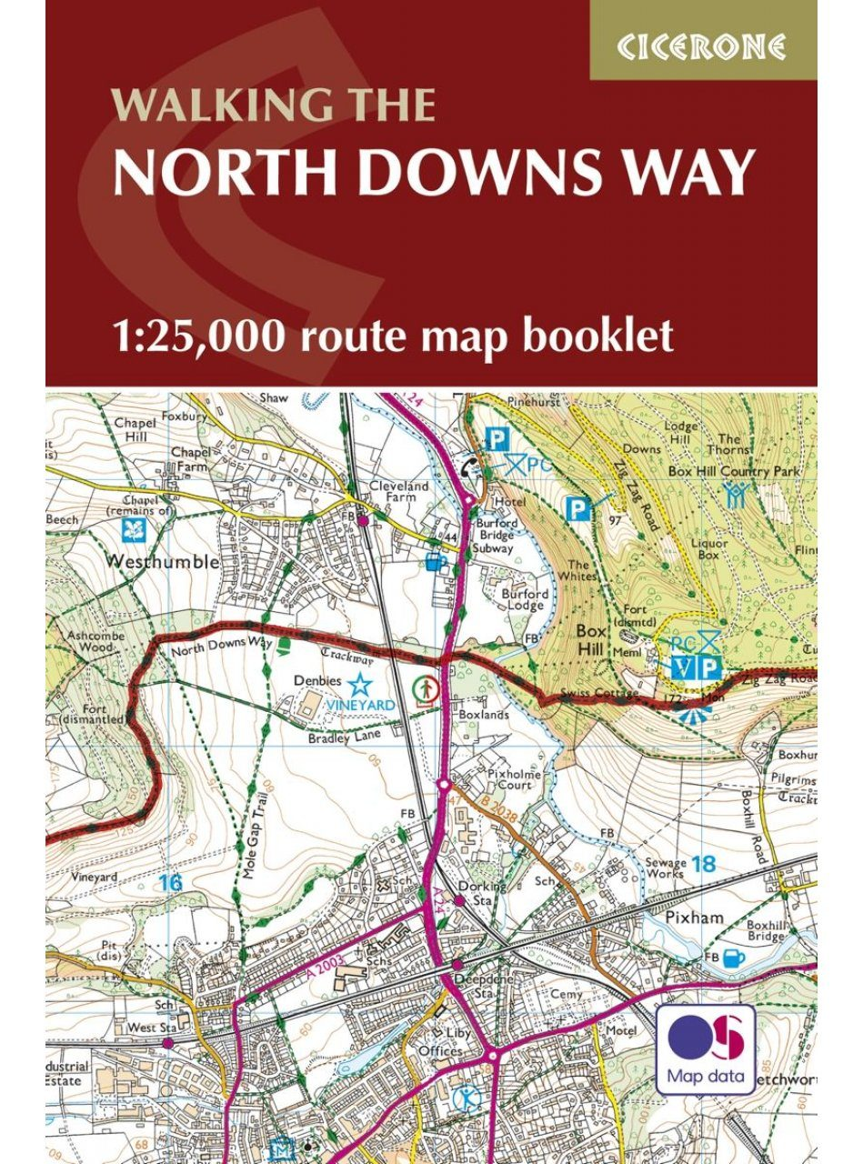 Cicerone Guides: Walking the North Downs Way: 1:25,000 Route Map Booklet