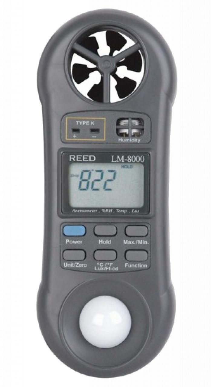 Reed LM-8000 6-in-1 Multi-Function Environmental Meter