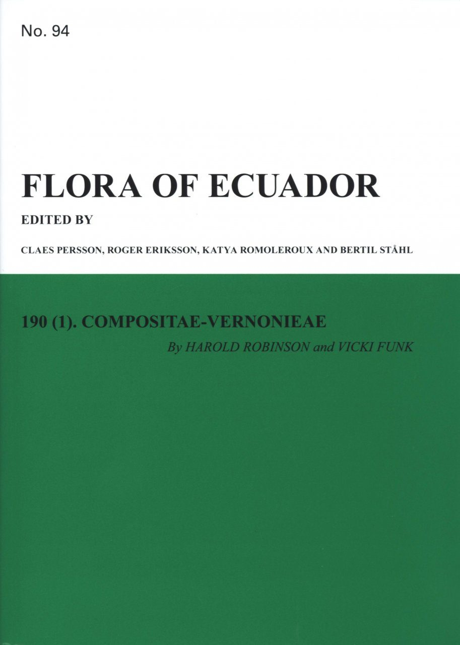 Flora of Ecuador, Volume 94, Part 190 (1): Compositae-Vernonieae
