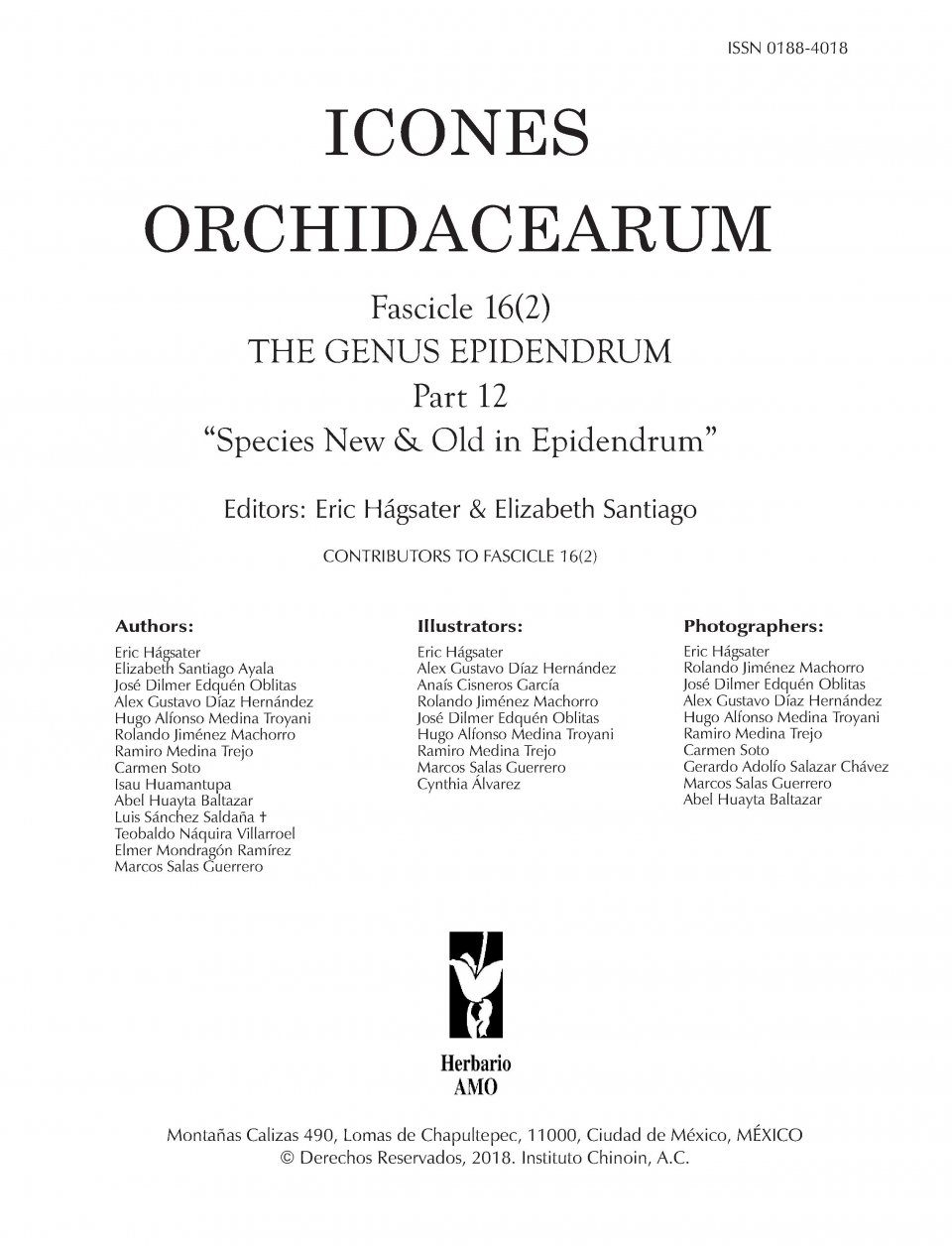 Icones Orchidacearum, Fascicle 16(2)