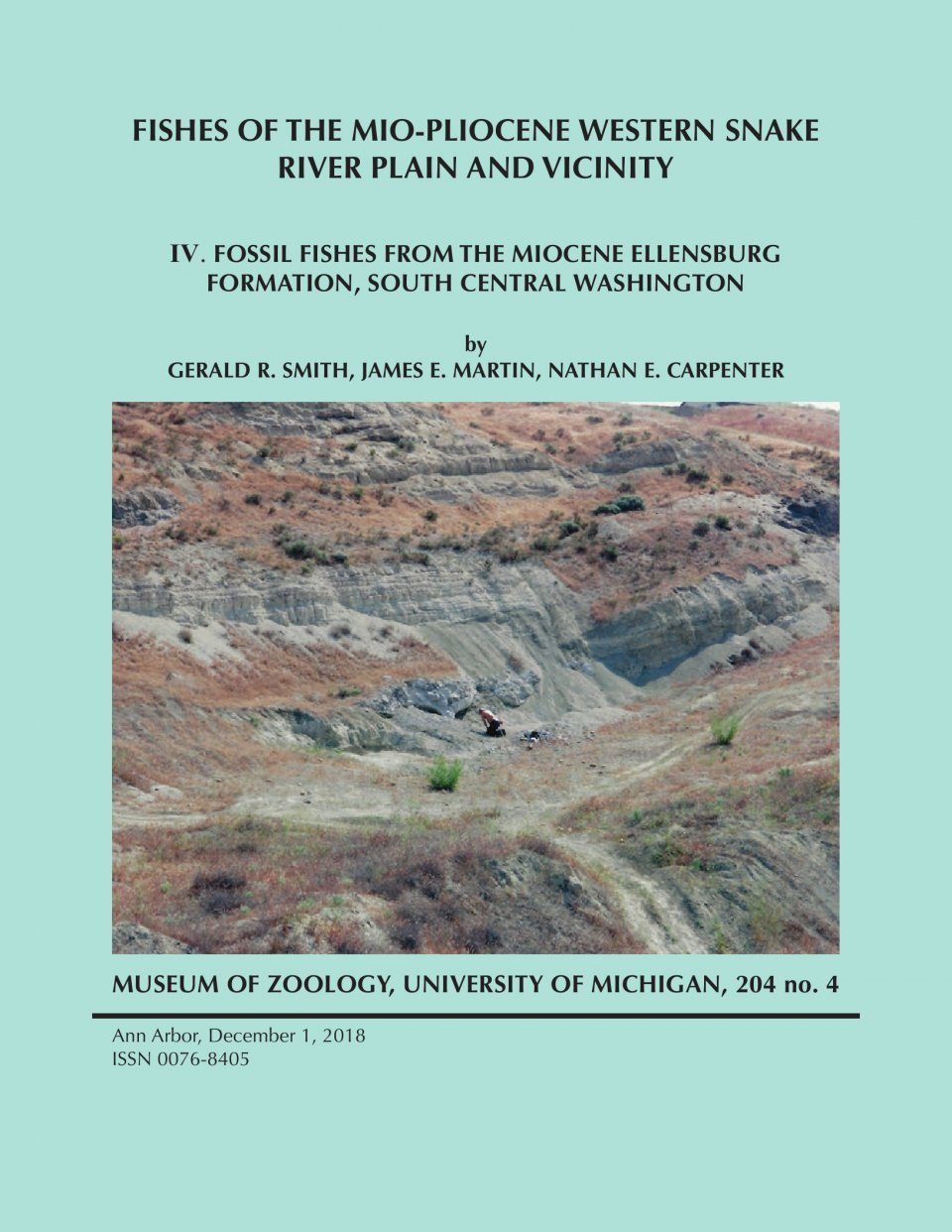 Fishes of the Mio-Pliocene Western Snake River Plain and Vicinity, Volume 4