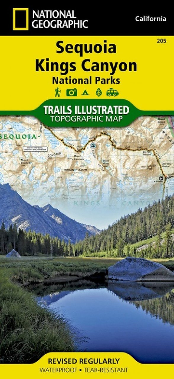 California: Map for Sequoia / Kings Canyon National Park