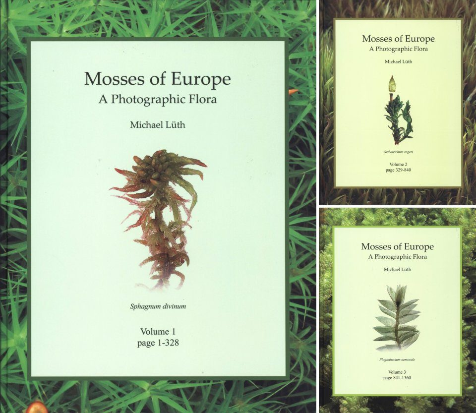 Mosses of Europe: A Photographic Flora (3-Volume Set)