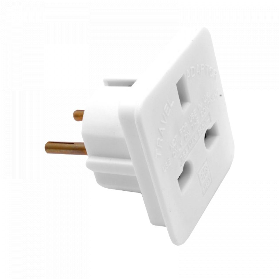 UK to European Mains Plug Adapter