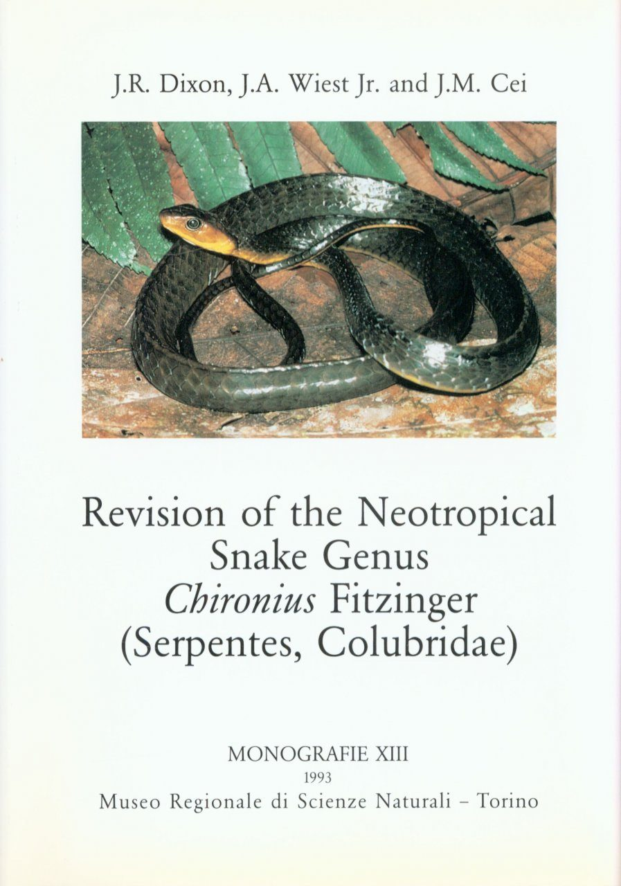 Revision of the neotropical snake genus chironius fitzinger serpentes