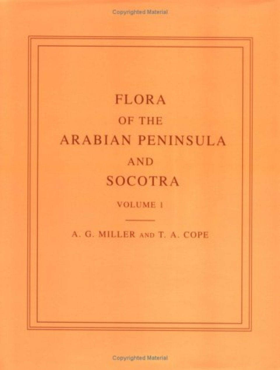 Flora of the Arabian Peninsula and Socotra: Volume 1