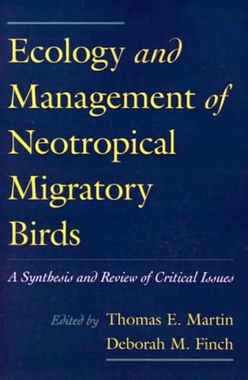 Ecology and Management of Neotropical Migratory Birds