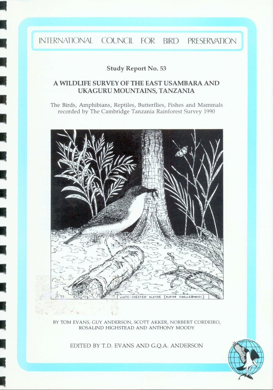 A Wildlife Survey of the East Usambara and Ukaguru Mountains, Tanzania
