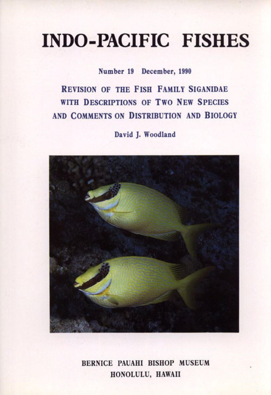 Revision of the Fish Family Siganidae with Descriptions of Two New Species and Comments on Distribution and Biology