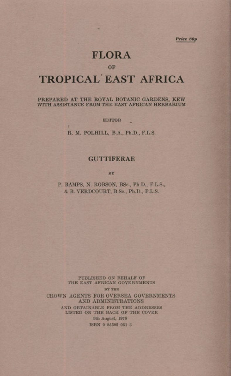 Flora of Tropical East Africa: Guttiferae