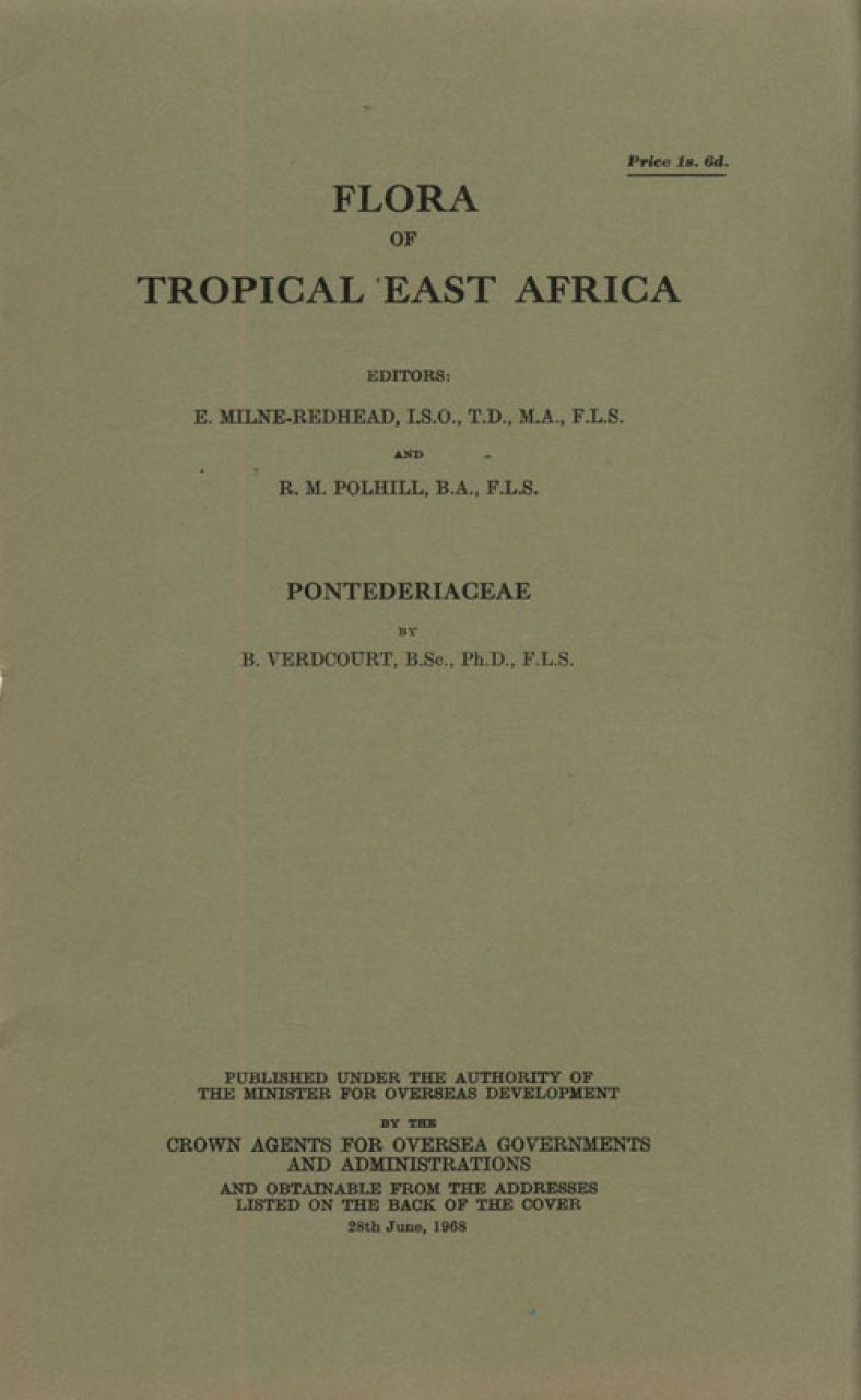 Flora of Tropical East Africa: Pontederiaceae