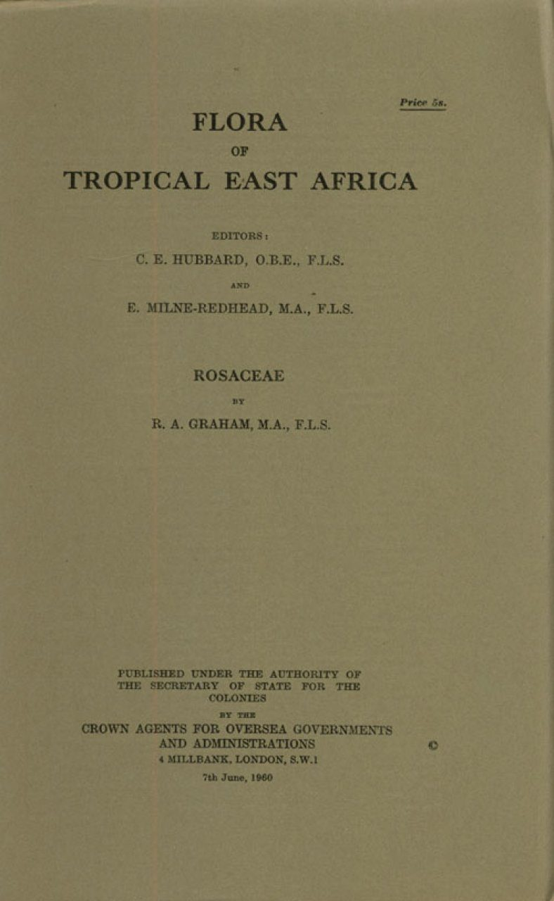 Flora of Tropical East Africa: Rosaceae