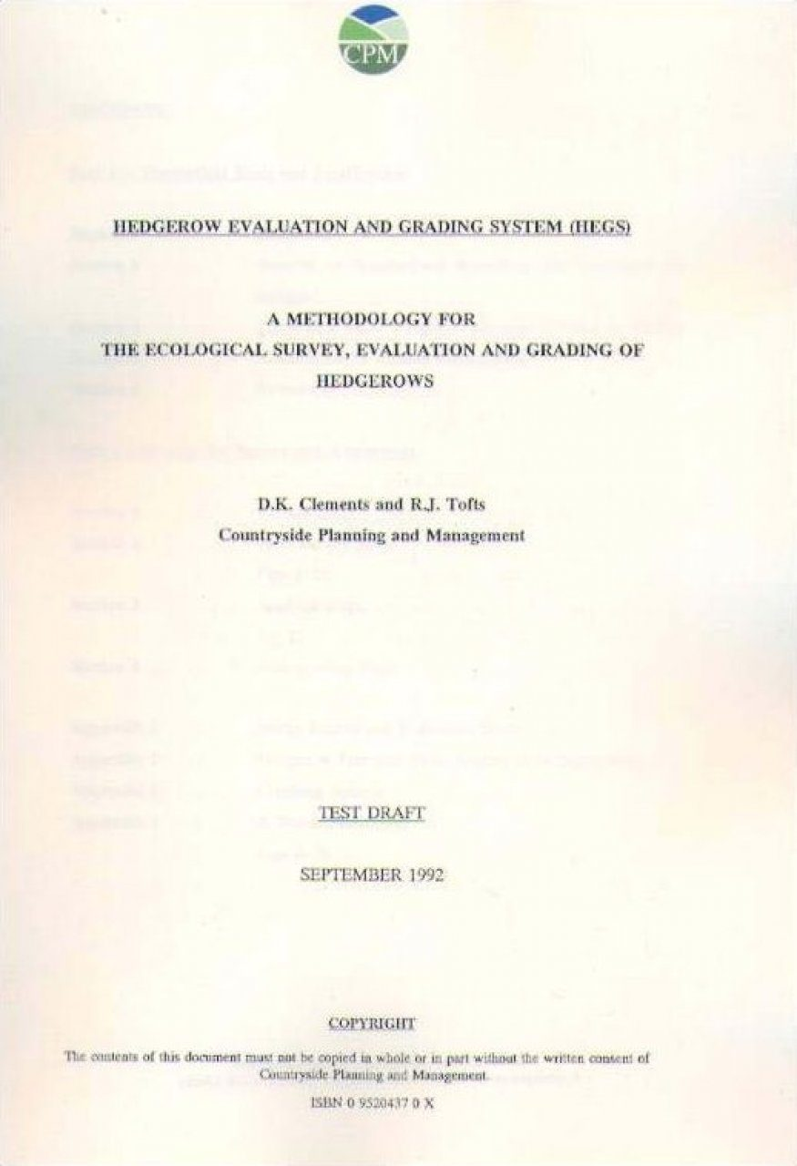 Hedgerow Evaluation and Grading Systems (HEGS)