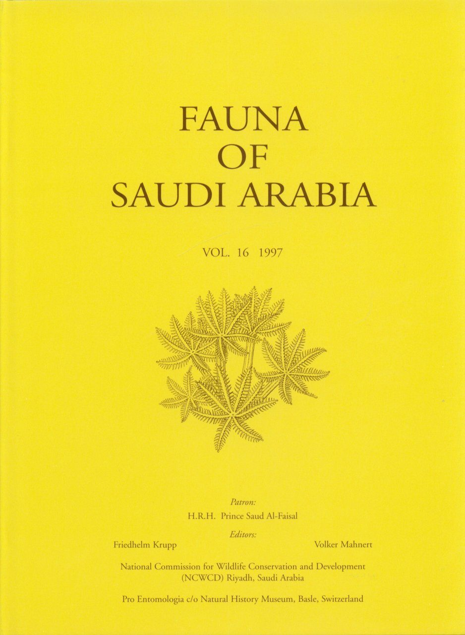 Fauna of Saudi Arabia, Volume 16
