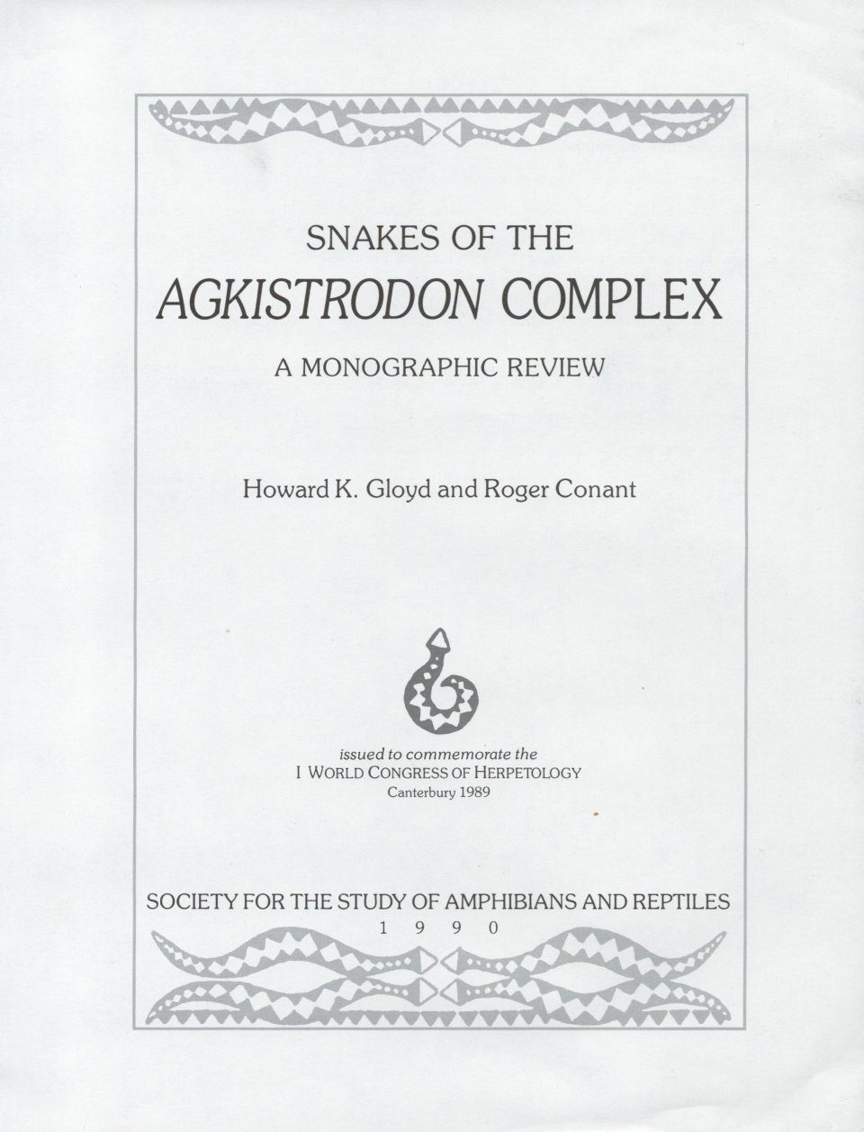 Snakes of the Agkistrodon Complex