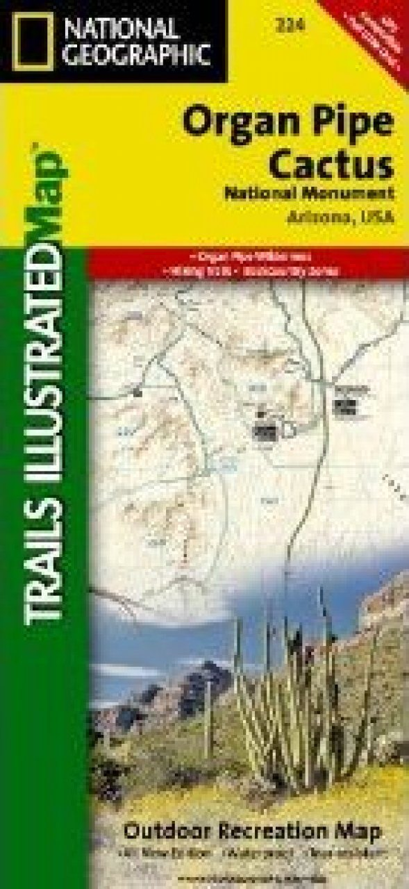 Arizona: Map for Organ Pipe Cactus National Monument