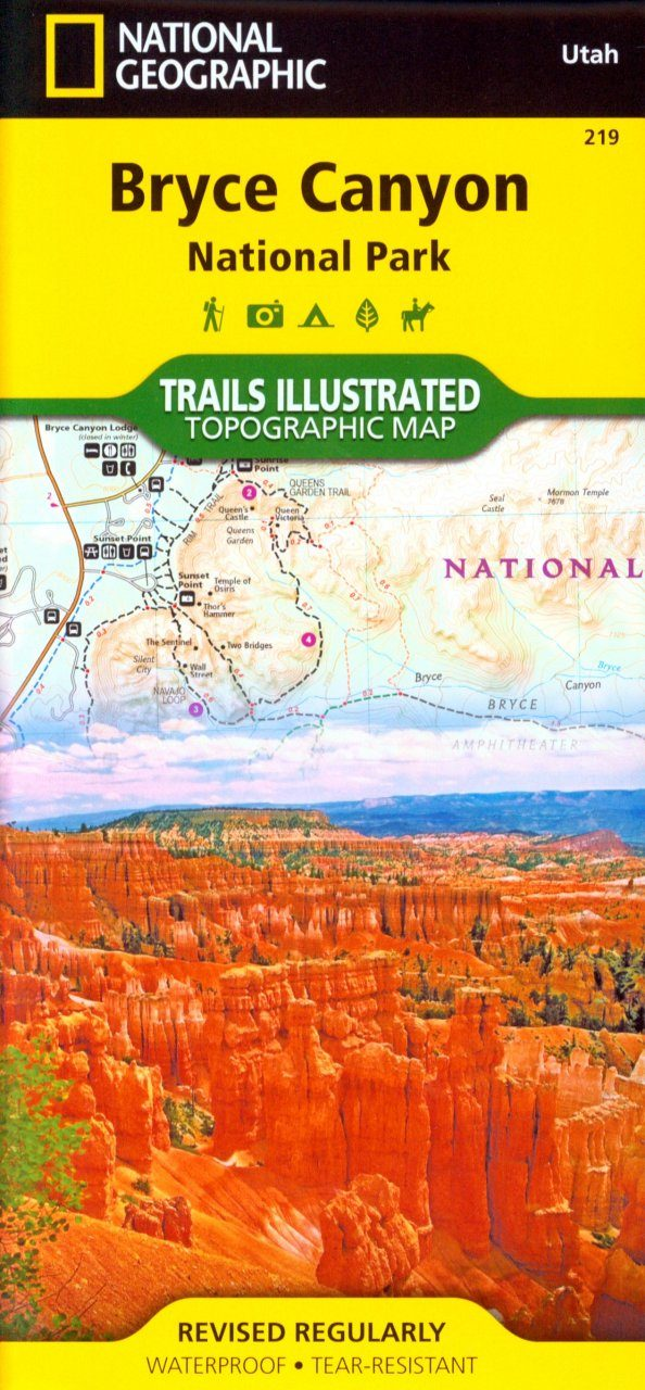 Utah: Map for Bryce Canyon National Park