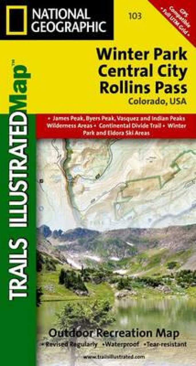 Colorado: Map for Winter Park/Central City/Rollins Pass