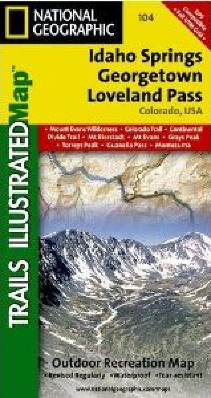 Colorado: Map for Idaho Springs/Loveland Pass