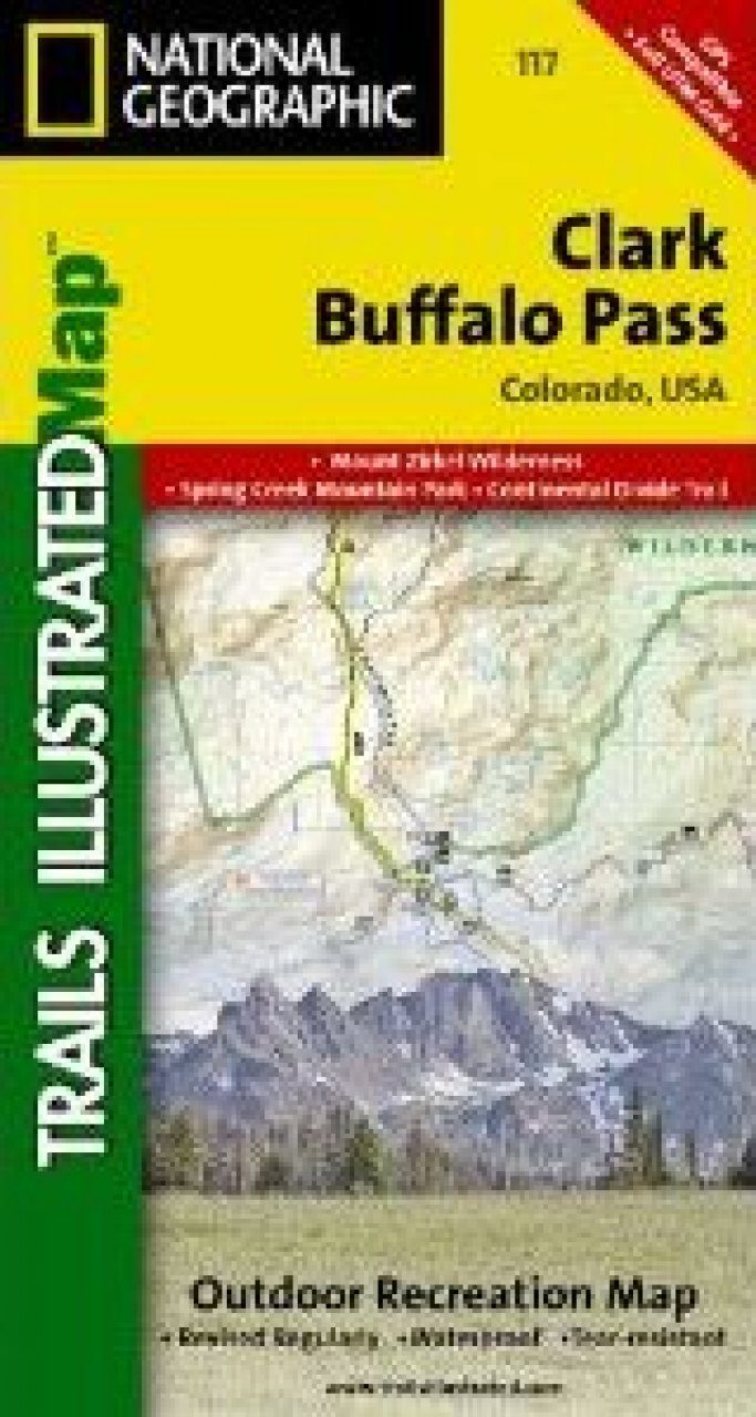 Image of: Colorado Map For Clark Buffalo Pass Nhbs Academic Professional Books