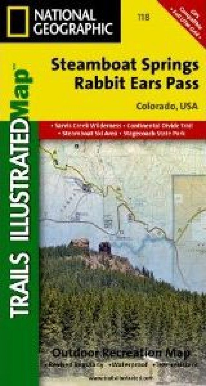 Colorado: Map for Steamboat Springs/Rabbit Ears Pass