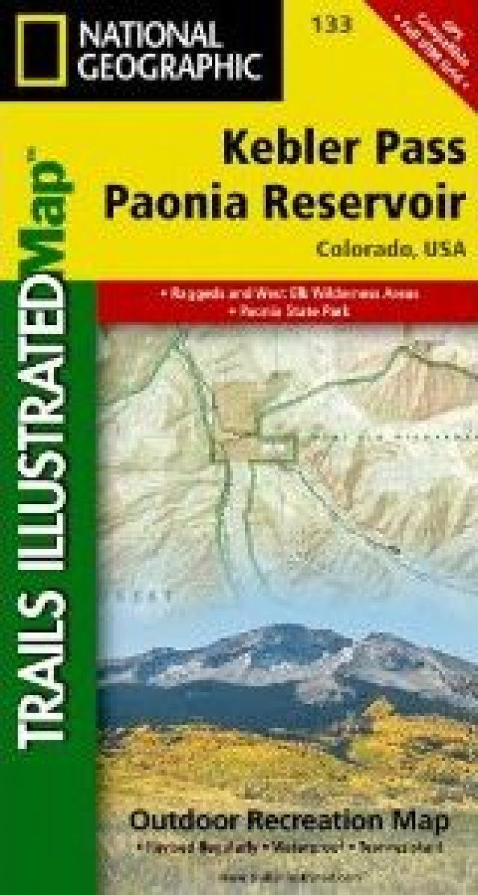 Colorado: Map for Kebler Pass/Paonia Reservoir