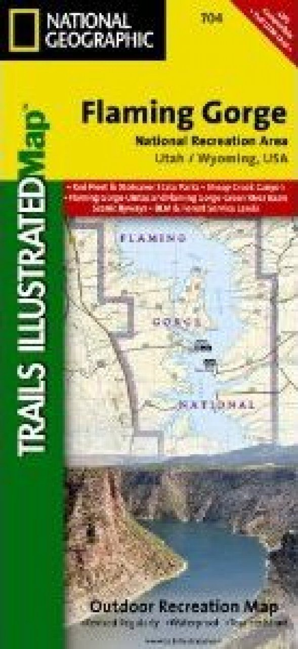 Utah: Map for Flaming Gorge NRA/Eastern Uintas