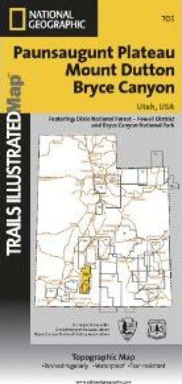 Utah: Map for Bryce Canyon/Mount Dutton