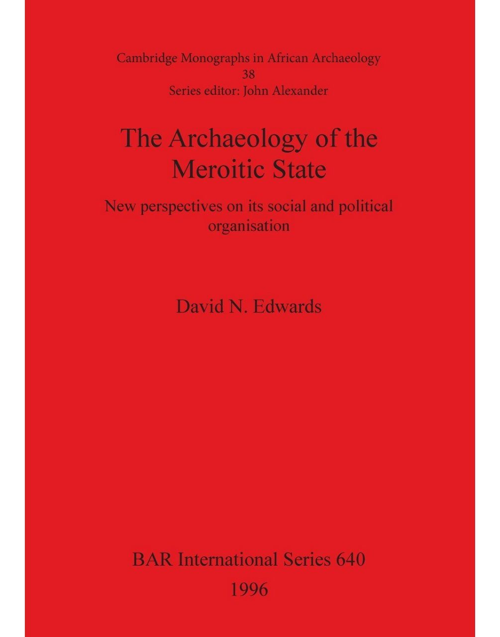 Archaeology of the Meroitic State