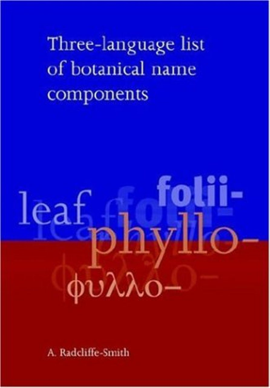 Three-Language List of Botanical Name Components