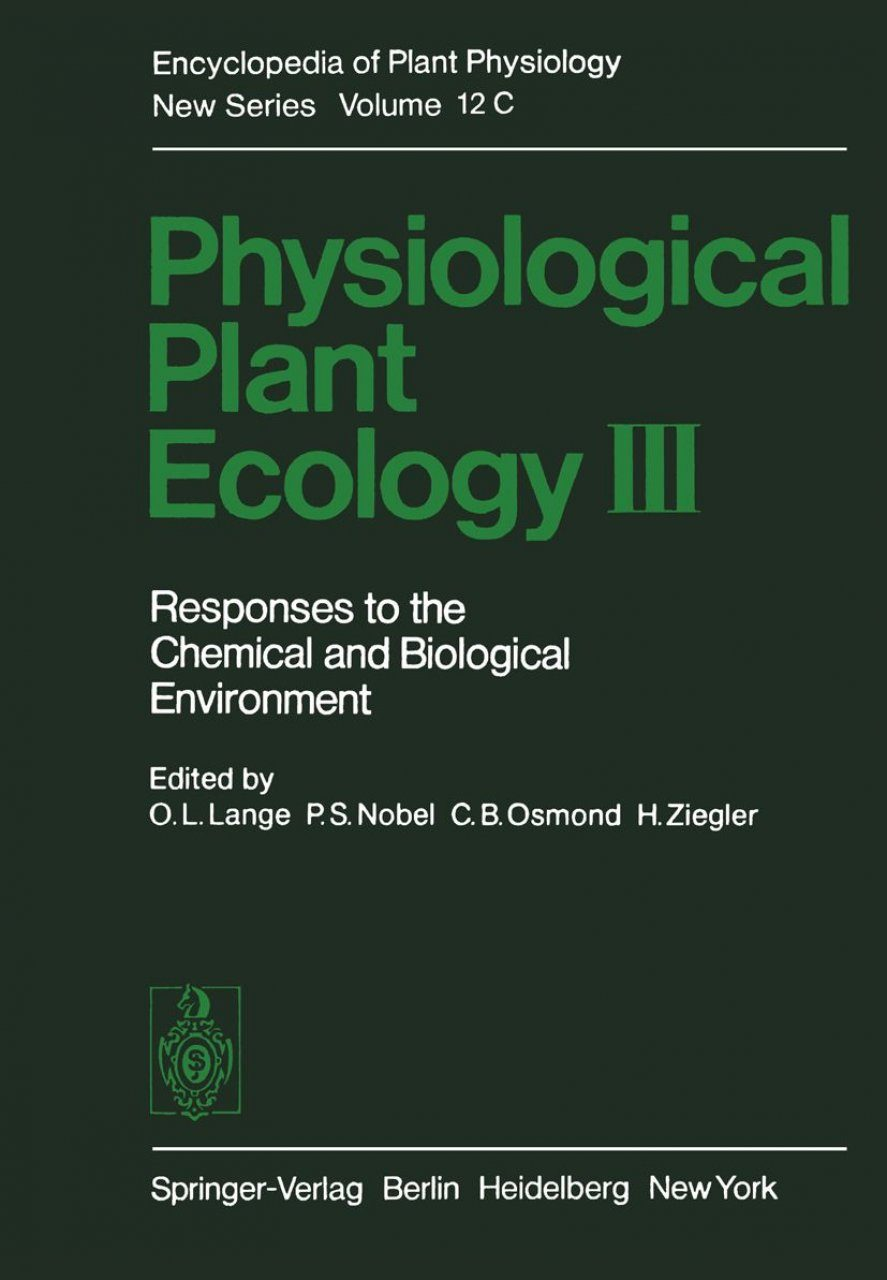 Responses to the Chemical and Biological Environment