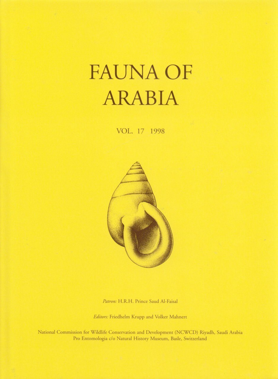 Fauna of Arabia, Volume 17