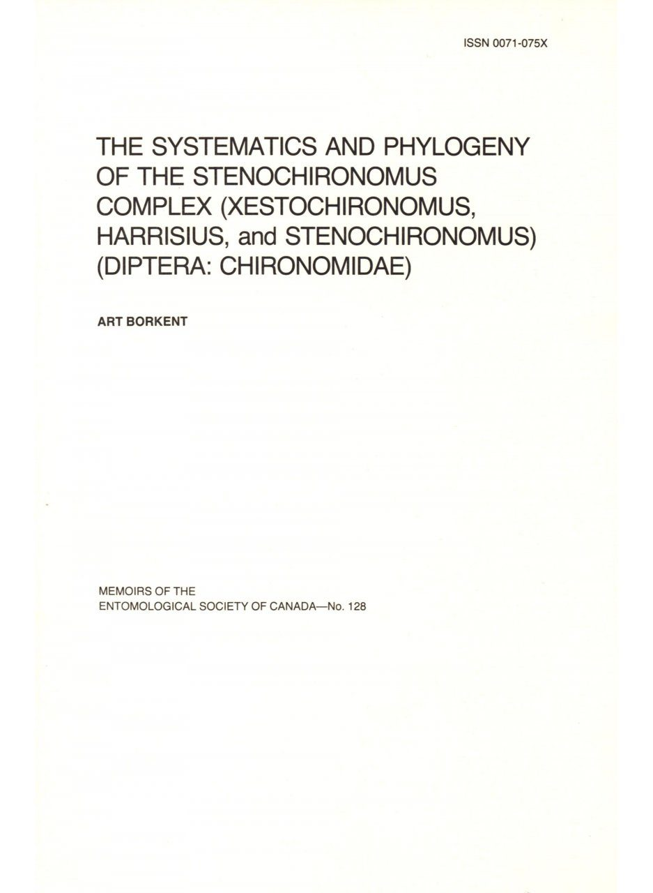 The Systematics and Phylogeny of the Stenochironomus Complex (Xestochironomus, Harrisius, and Stenochironomus) (Diptera:Chironomidae)